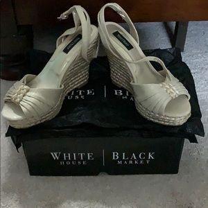 WHITE HOUSE BLACK MARKET ESPADRILLE WEDGE